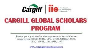 Infográfico Cargill Global Scholars Program 2018-2019