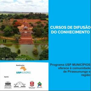 Cursos de difusão do conhecimento - Programa USP Municípios