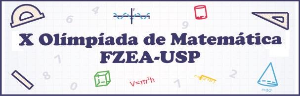 Banner X Olimpíada de Matemática FZEA-USP
