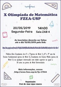 X Olimpíada de Matemática FZEA-USP