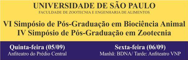 Banner Simpósios de Pós-Graduação em Biociência Animal e Zootecnia