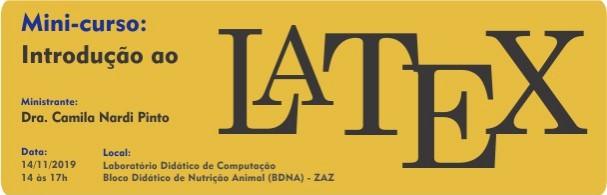 Banner Minicurso: Introdução ao LaTex