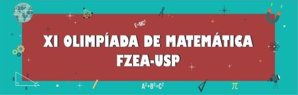Banner XI Olimpíada de Matemática FZEA-USP
