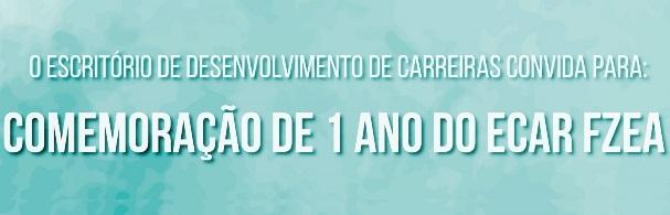 Banner Comemoração de 1 ano do ECAR FZEA