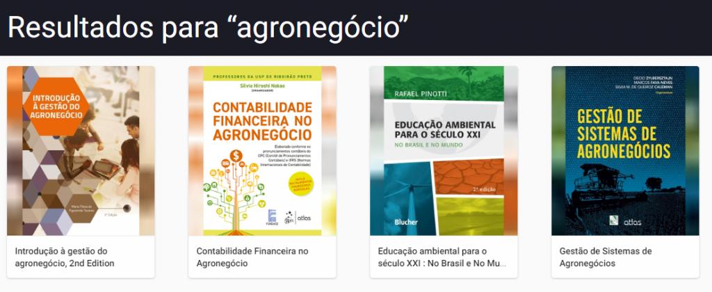USP Minha Biblioteca - Agronegócio