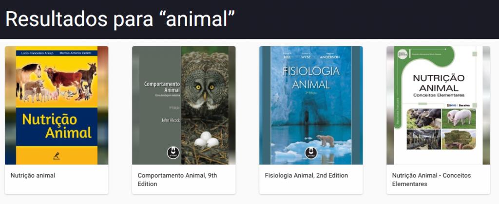 USP Minha Biblioteca - Animal