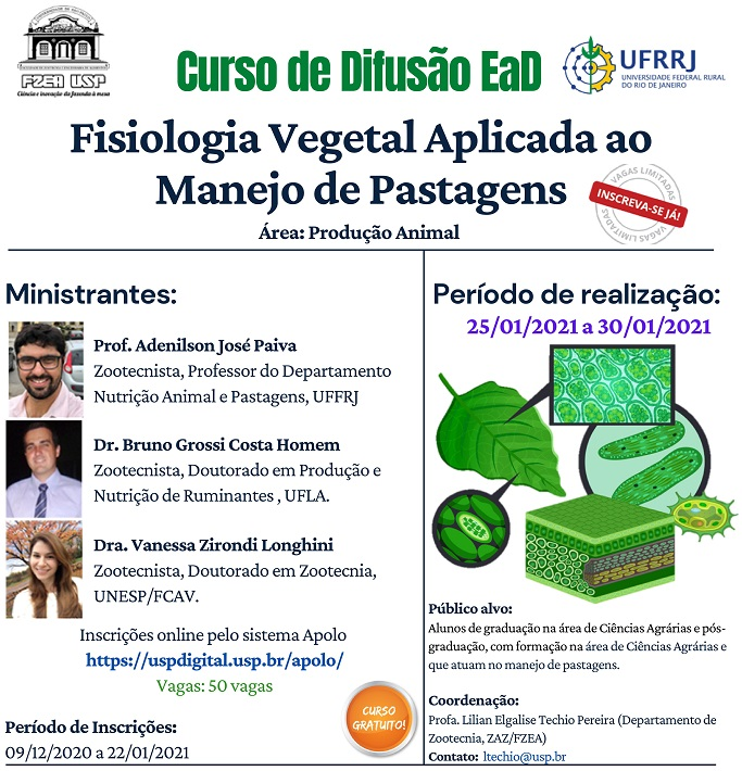 Curso de Difusão EaD - Fisiologia Vegetal aplicada ao Manejo de Pastagens
